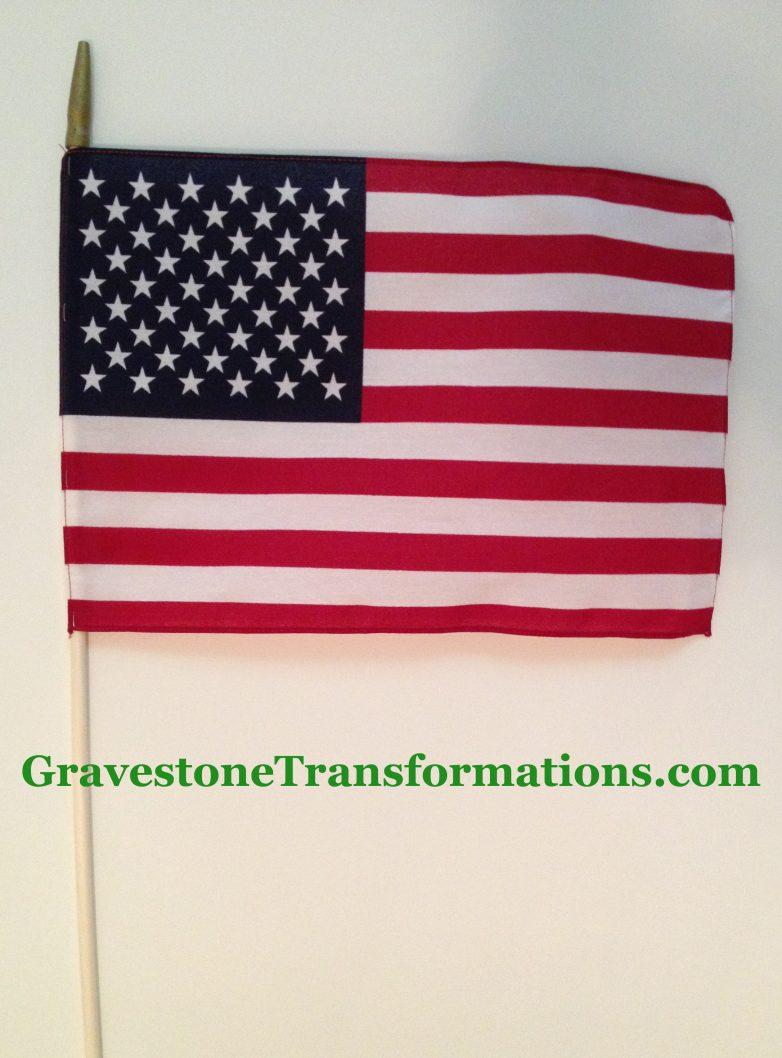 Gravestone Transformations - American Flag