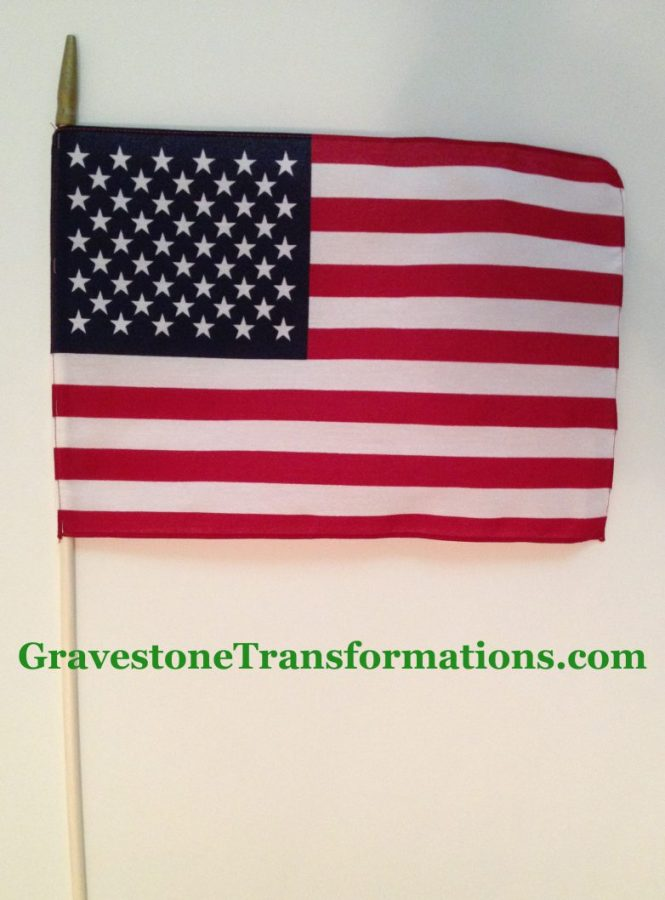 Gravestone Transformations - American Flag