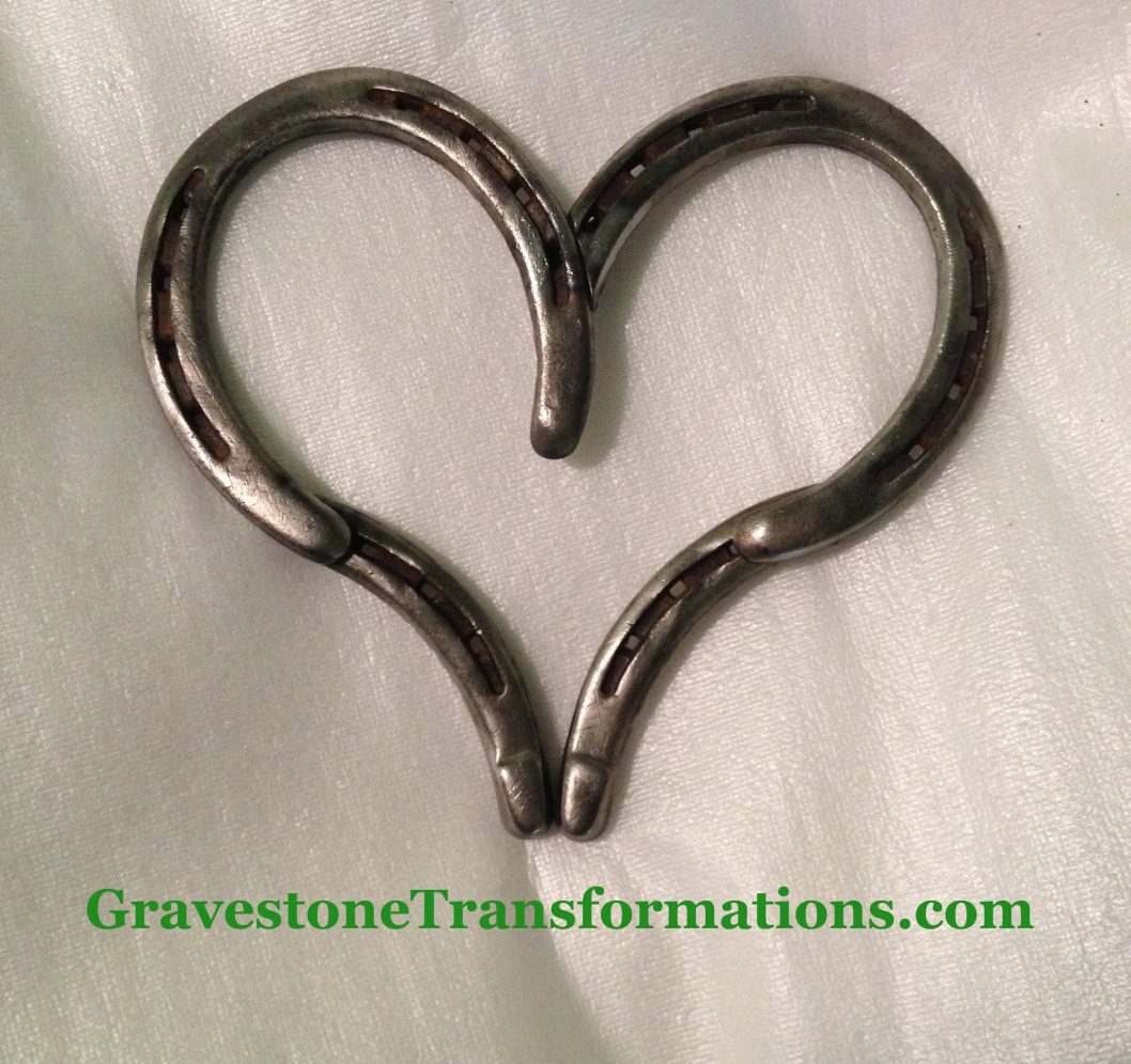 Gravestone Transformations - Custom made heart, unpainted