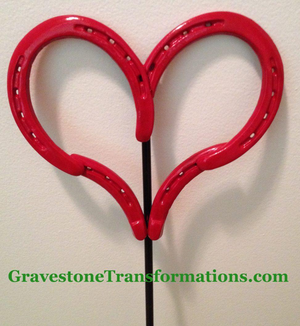 Gravestone Transformations - Custom made red heart