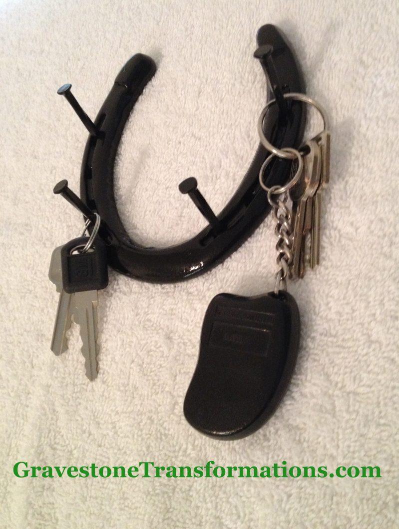 Gravestone Transformations - Custom made horseshoe key rack