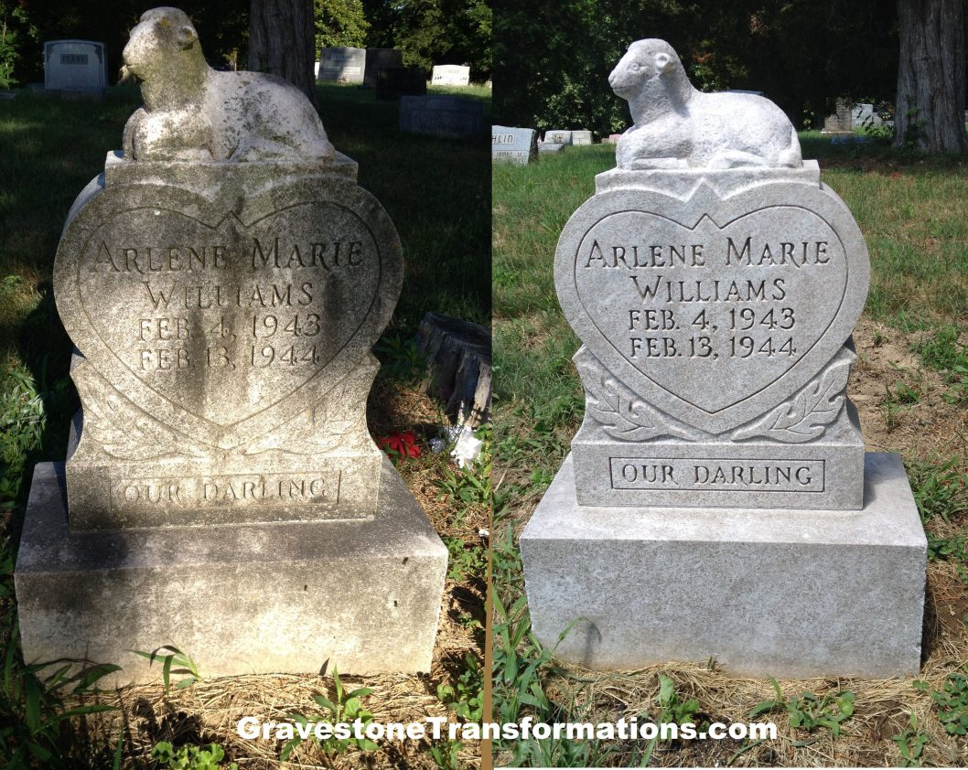 Gravestone Transformations - Arlene Williams - Bennett Cemetery - Minford, Ohio - BA