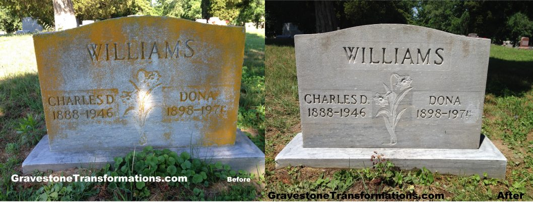 Gravestone Transformations - Charles Williams - Bennett Cemetery - Minford, Ohio - BA