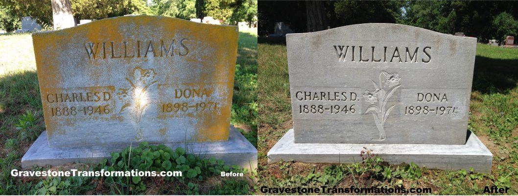 Gravestone Transformations - Charles Williams - Bennett Cemetery - Minford, Ohio - BA
