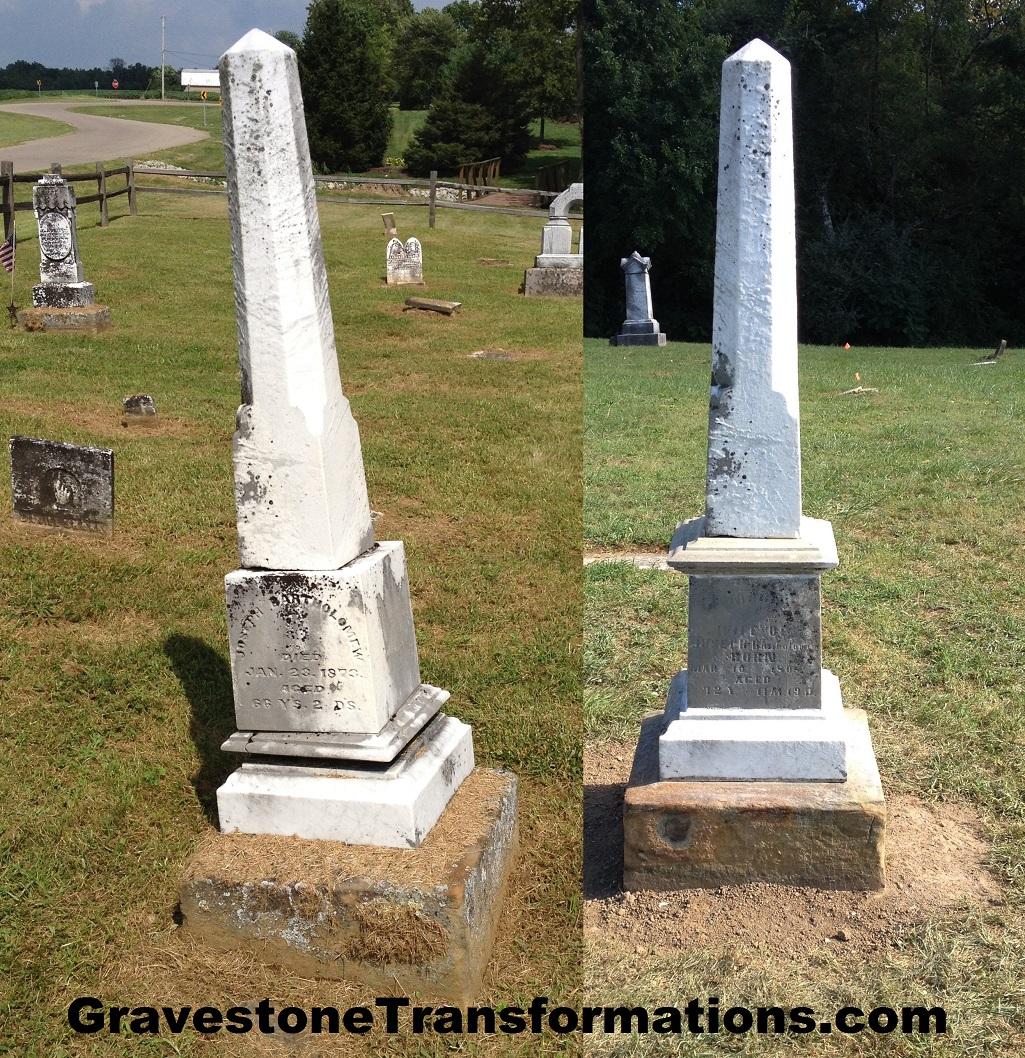 Gravestone Transformations - Joseph_Mary Bartholomew - Zion Cemetery - Pickaway County sc