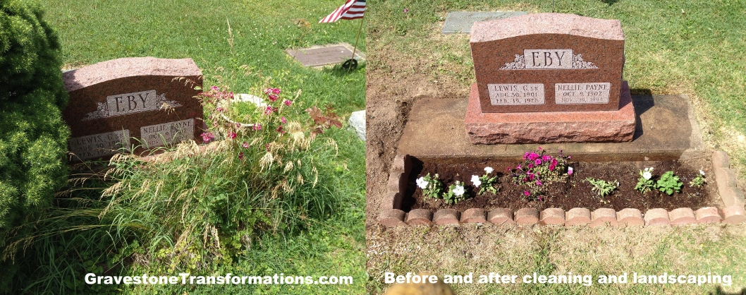 Gravestone Transformations - Browns Chapel - Lewis and Nellie Eby