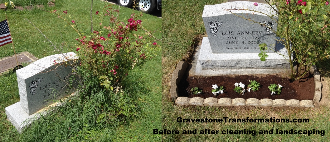 Gravestone Transformations Browns Chapel - Lois Eby
