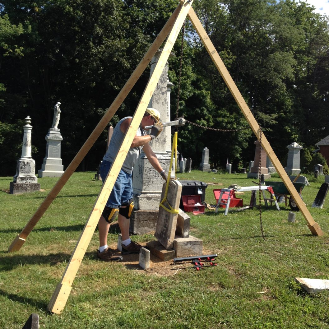Mark Smith - Gravestone Transformations - Conservation and Preservation Project - Pontius United Methodist Church Cemetery - Circleville, Ohio - Pickaway County