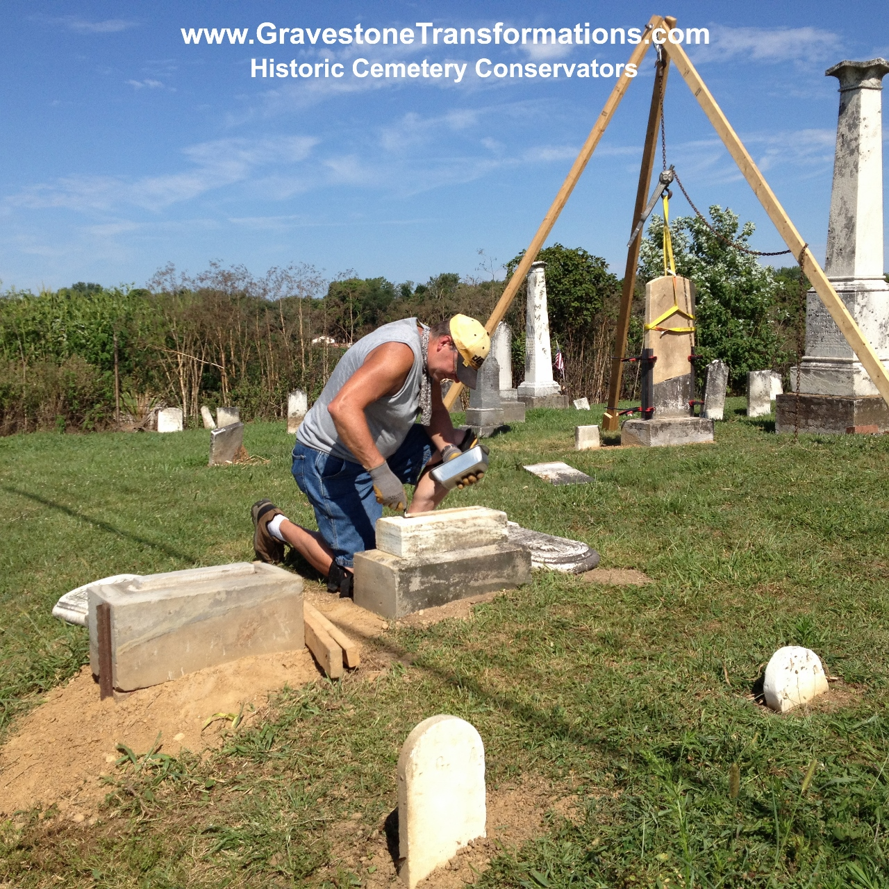 Gravestone Transformations - Historic Cemetery Conservators - Headstone Repair, Gravestone Cleaning, Monument Resetting, Cemetery Conservation and Preservation